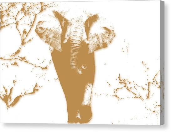 Mount Kilimanjaro Canvas Print - Elephant 2 by Joe Hamilton