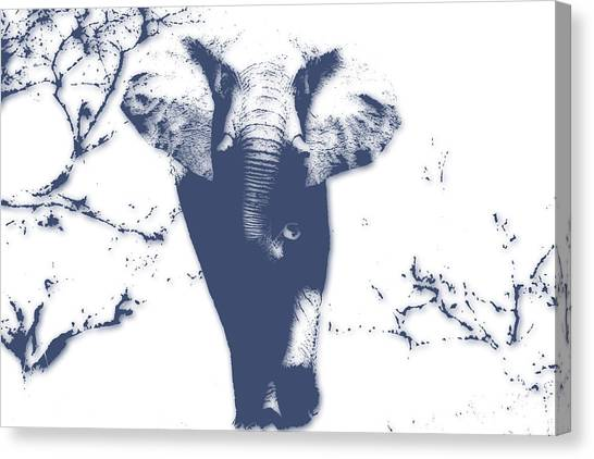 Mount Kilimanjaro Canvas Print - Elephant 3 by Joe Hamilton