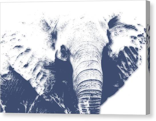 Mount Kilimanjaro Canvas Print - Elephant 4 by Joe Hamilton