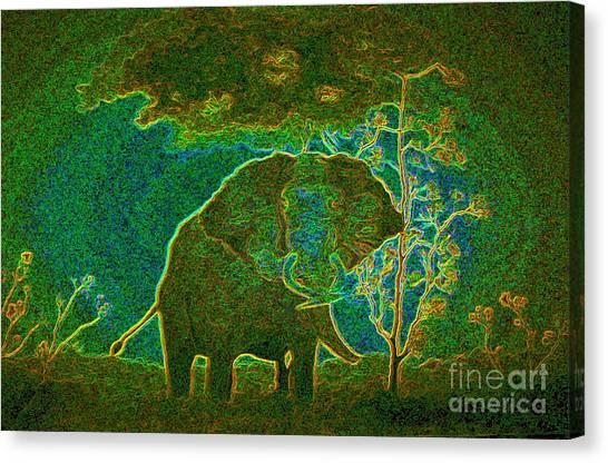 Elephant Abstract Canvas Print