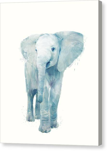 Elephants Canvas Print - Elephant by Amy Hamilton