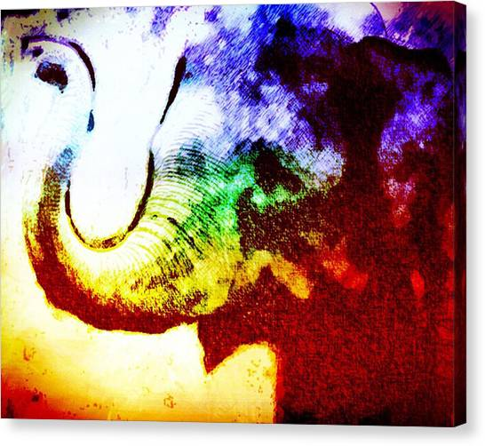 Elephant Energy Canvas Print