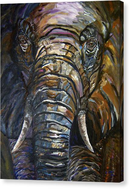 Elephant Faces Of Nature Series Canvas Print