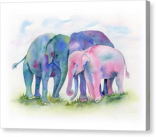 Elephant Hug Canvas Print