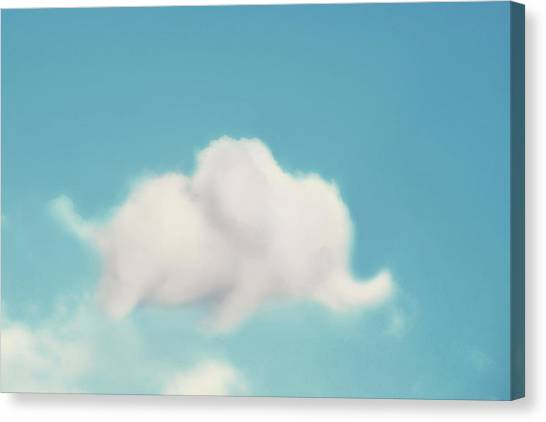 Baby Canvas Print - Elephant In The Sky by Amy Tyler