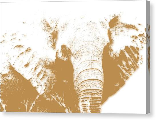 Mount Kilimanjaro Canvas Print - Elephant by Joe Hamilton