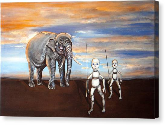 Elephant King Canvas Print