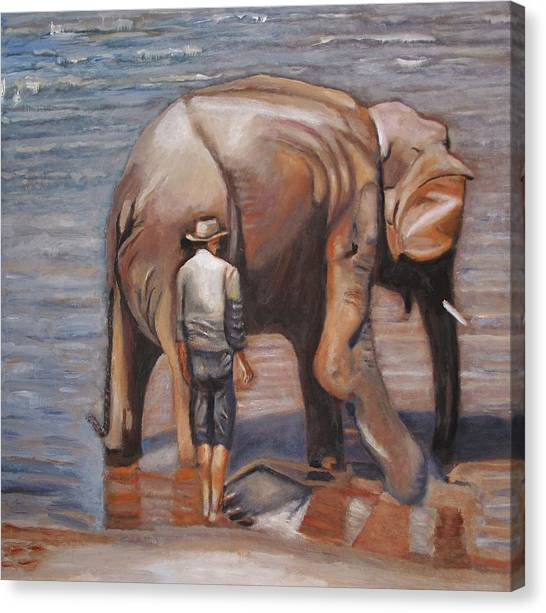 Elephant Man Canvas Print by Keith Bagg
