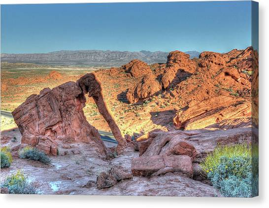 Elephant Rock - Hdr - Valley Of Fire Canvas Print