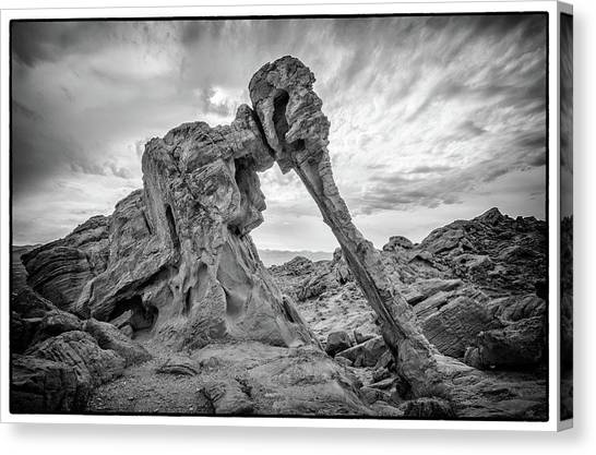 Elephant Rock, Valley Of Fire Canvas Print