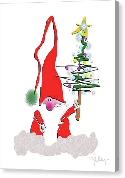 Canvas Print featuring the mixed media Elf  by Larry Talley