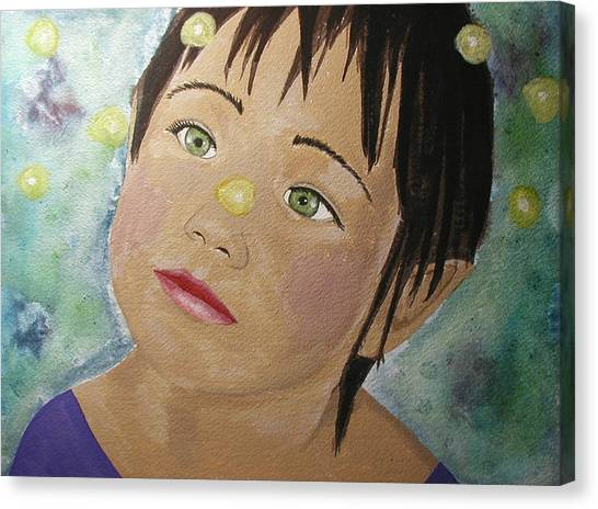Elfin Lights Canvas Print by Christy Sobolewski