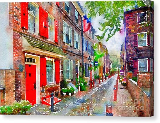 Elfreths Alley Canvas Print