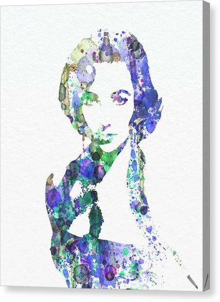 Hollywood Canvas Print - Elithabeth Taylor by Naxart Studio