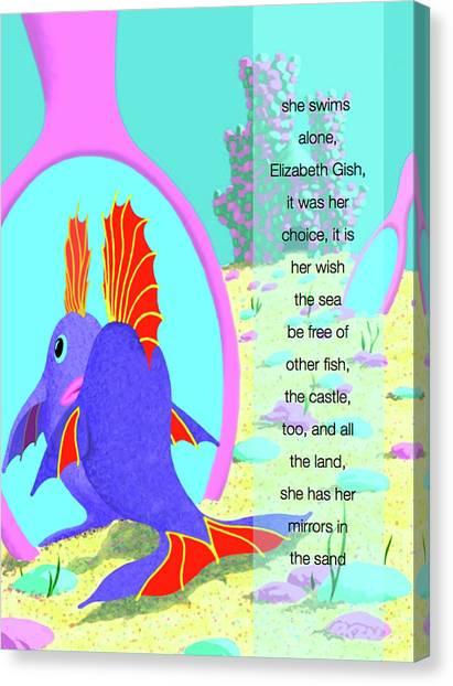 Elizabeth Gish Canvas Print by Tom Dickson