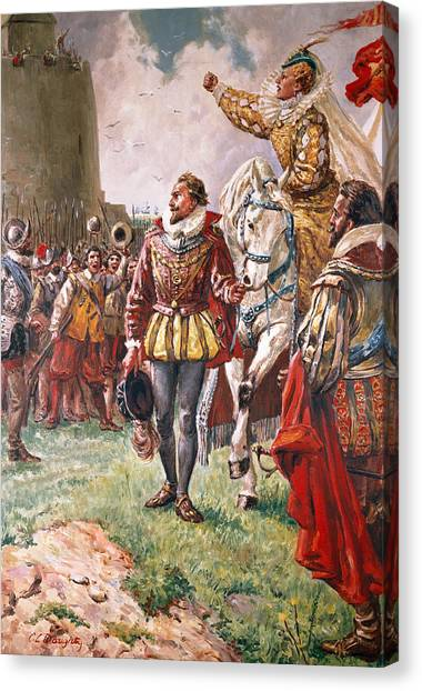 Queen Elizabeth Canvas Print - Elizabeth I The Warrior Queen by CL Doughty