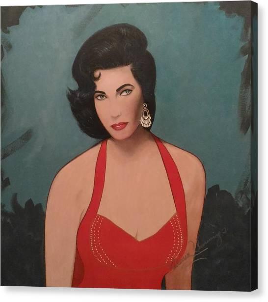 Elizabeth Taylor - Absolutely Beautiful Canvas Print