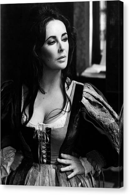 Elizabeth Taylor Canvas Print - Elizabeth Taylor In The Taming Of The Shrew by Unknown