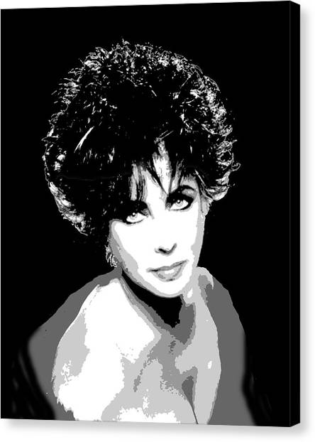 Elizabeth Taylor Canvas Print by Richard La Valle