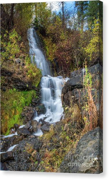 Elk Creek Waterfall Waterscape Art By Kaylyn Franks Canvas Print