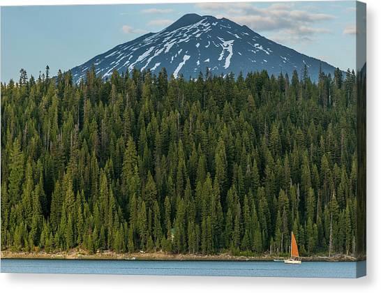 Elk Lake Sailing  Canvas Print
