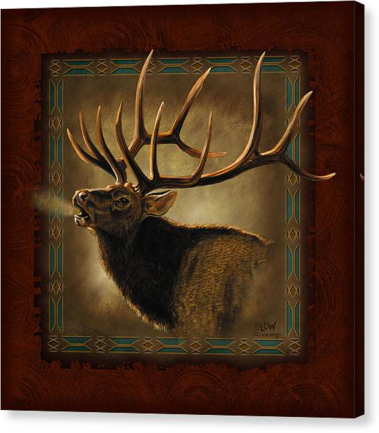 Wyoming Canvas Print - Elk Lodge by JQ Licensing