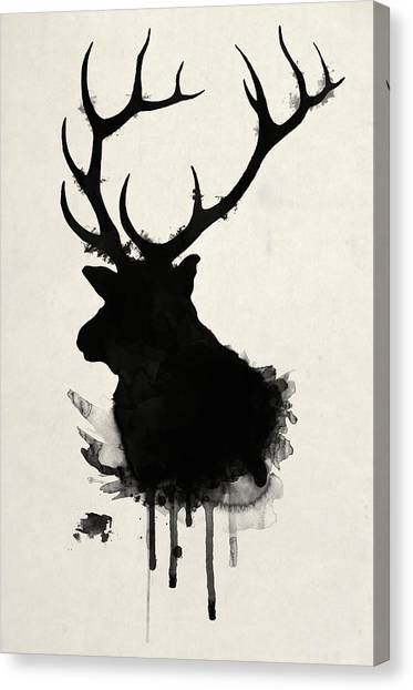 Wild Animals Canvas Print - Elk by Nicklas Gustafsson