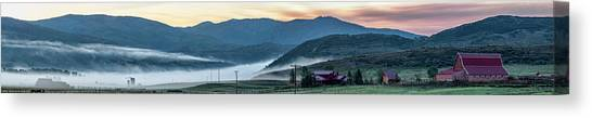 Elk River Fog At Sunrise Canvas Print