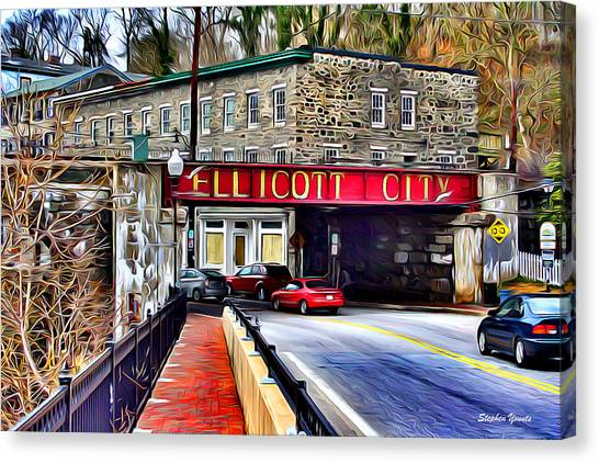 Trolley Canvas Print - Ellicott City by Stephen Younts