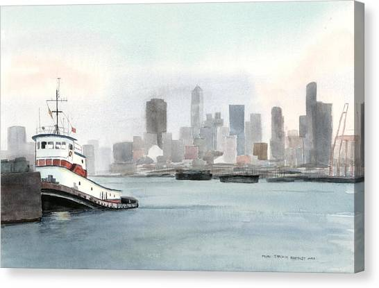 Elliott Bay Tugboat Canvas Print