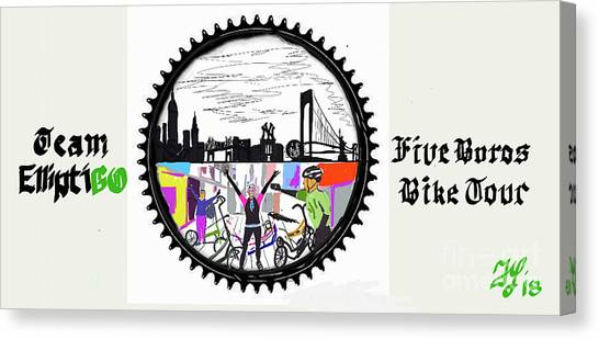 elliptiGO meets the 5 boros bike tour Canvas Print
