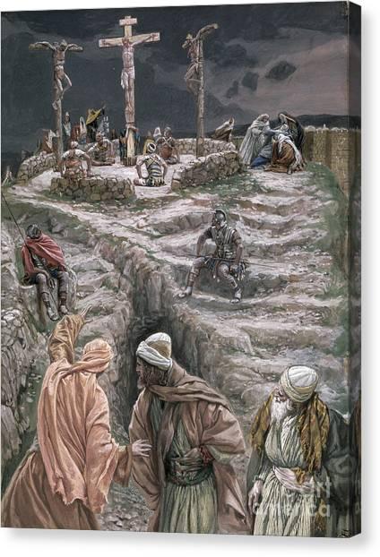 Crucify Canvas Print - Eloi Eloi Lama Sabacthani by Tissot