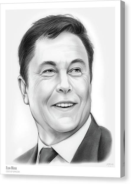 South Africa Canvas Print - Elon Musk by Greg Joens
