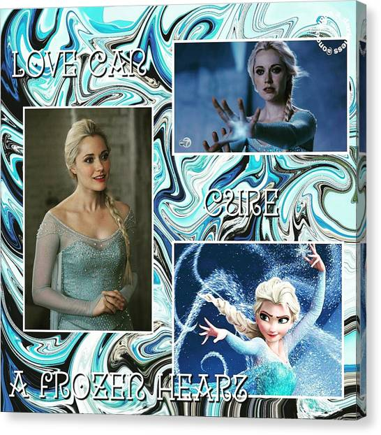 Tv Shows Canvas Print - Elsa by Kay Klinkers