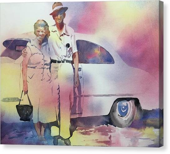 Elsie And Barney Shields Canvas Print