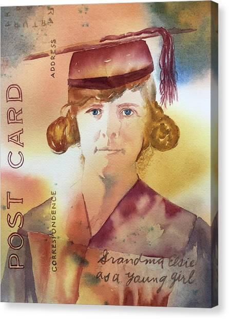 Elsie Circa 1915 Canvas Print