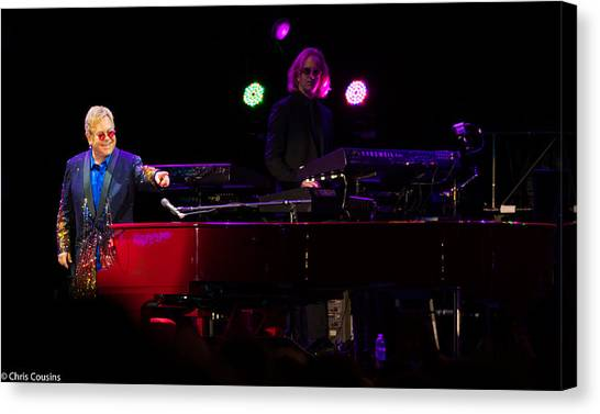 Elton - Enjoying The Show Canvas Print