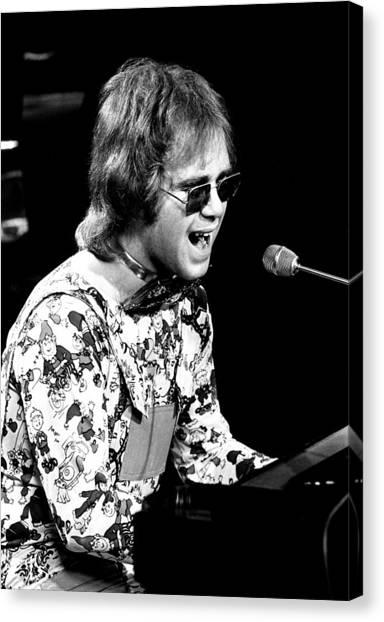Elton John Canvas Print - Elton John 1970 #3 by Chris Walter