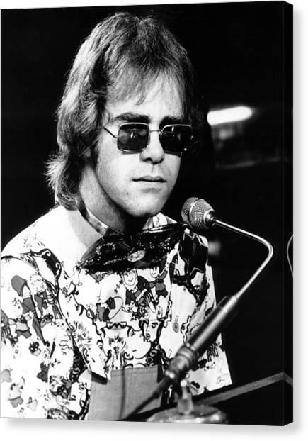 Elton John Canvas Print - Elton John 1970 #1 by Chris Walter