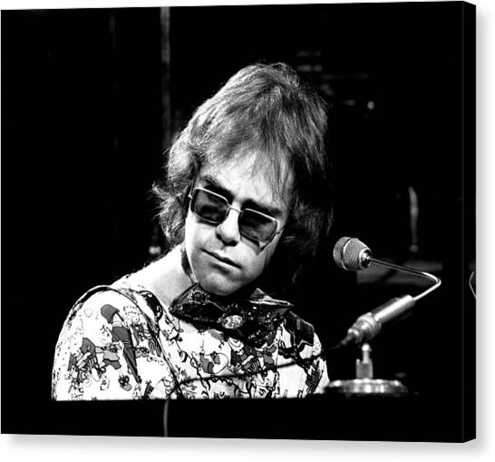 Elton John Canvas Print - Elton John 1970 #2 by Chris Walter