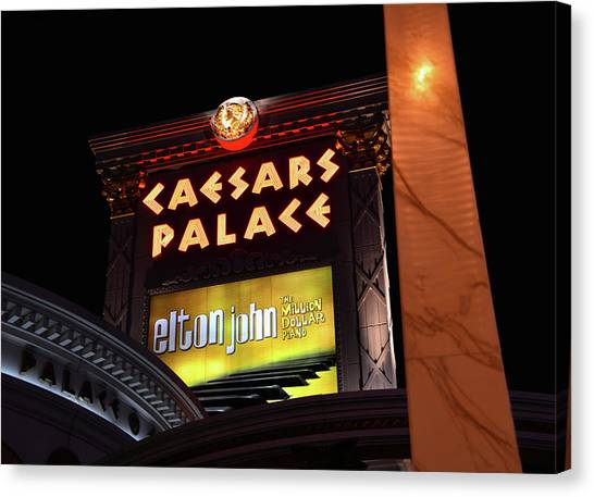 Elton John Canvas Print - Elton John At Caesars Palace 2011 2018 by David Lee Thompson