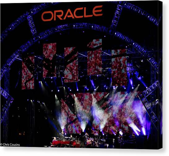 Elton John At Oracle Open World In 2015 Canvas Print