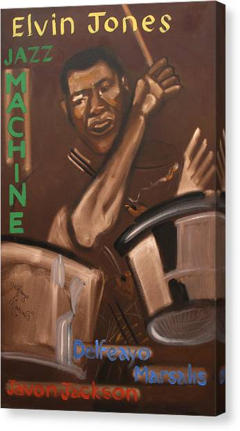Elvin Jones Jazz Machine Canvas Print