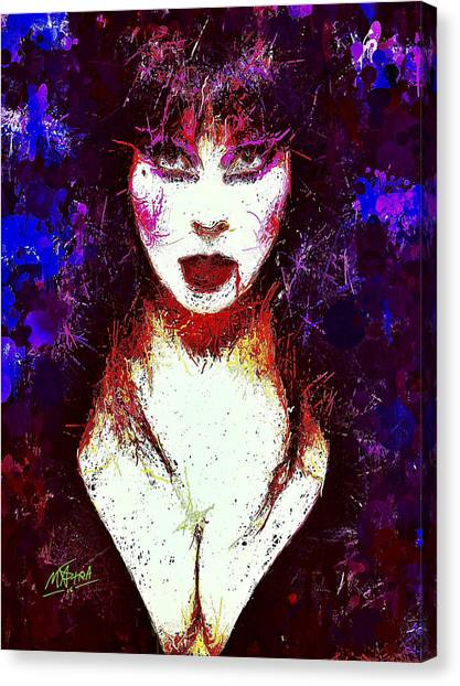 Elvira Mistress Of The Dark Canvas Print