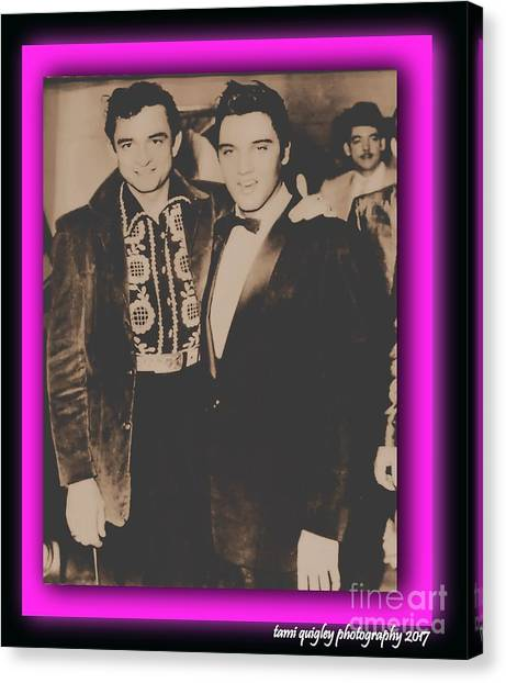 Elvis And Johnny Canvas Print