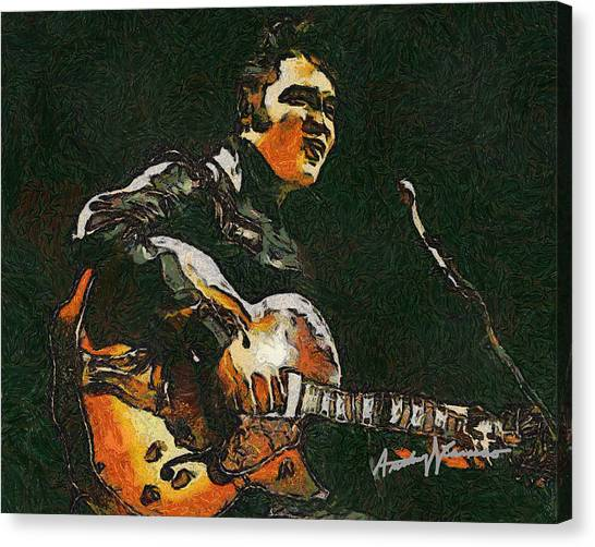 Elvis Canvas Print by Anthony Caruso