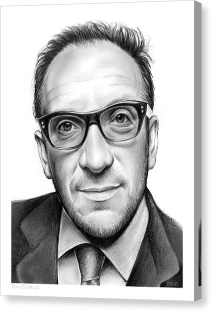 Elvis Canvas Print - Elvis Costello by Greg Joens