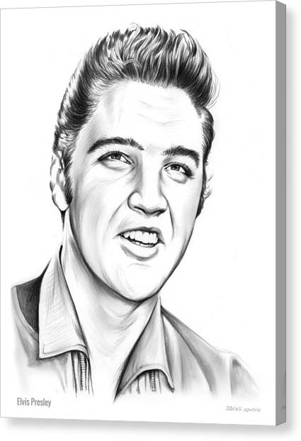 Elvis Canvas Print - Elvis by Greg Joens