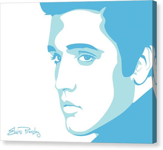 Rock Music Canvas Print - Elvis by Mike Maher