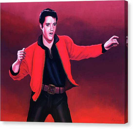 Nashville Canvas Print - Elvis Presley 4 Painting by Paul Meijering